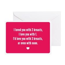 Unilateral (i Love You) Greeting Cards