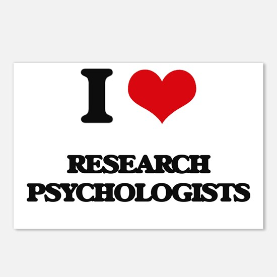 I love Research Psycholog Postcards (Package of 8)
