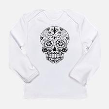 Sugar skull black and white Long Sleeve T-Shirt