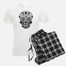 Sugar skull black and white Pajamas