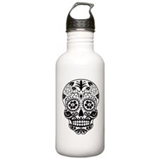 Sugar skull black and Water Bottle