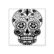 Sugar skull black and white Sticker