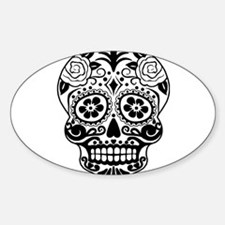 Sugar skull black and white Decal