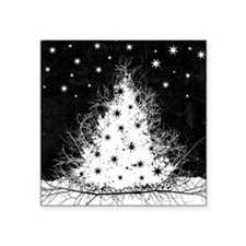 "Gothic Branches Christmas T Square Sticker 3"" x 3"""