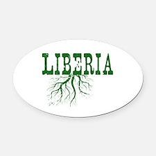 Liberia Roots Oval Car Magnet