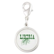 Liberia Roots Silver Round Charm