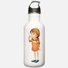 A baby girl crying Water Bottle