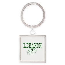 Lebanon Roots Square Keychain