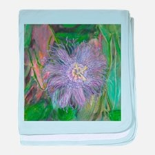 FLORIDA PASSION FLOWER VINE baby blanket