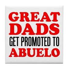 Promoted To Abuelo Drinkware Tile Coaster