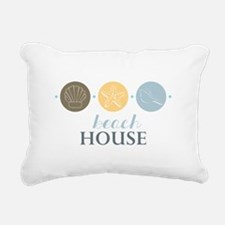 Beach House Rectangular Canvas Pillow