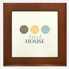 Beach House Framed Tile