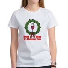 Christmas Wine Tme T-Shirt