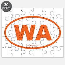 Washington WA Euro Oval Puzzle