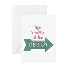 Better At Beach Greeting Cards