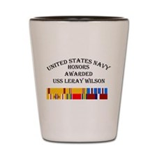 USS Leray Wilson Shot Glass