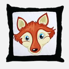 A head of a fox Throw Pillow
