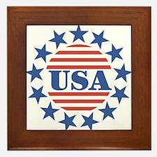USA Fourth of July Framed Tile