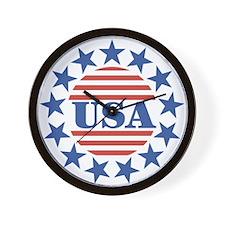 USA Fourth of July Wall Clock