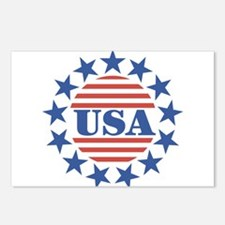 USA Fourth of July Postcards (Package of 8)