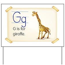 Letter G Yard Sign