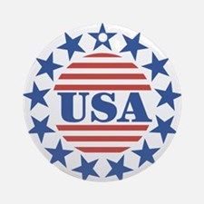 USA Fourth of July Ornament (Round)