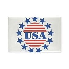 USA Fourth of July Rectangle Magnet