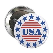 """USA Fourth of July 2.25"""" Button (100 pack)"""