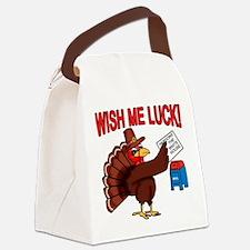 Turkey Pardon Humor Canvas Lunch Bag