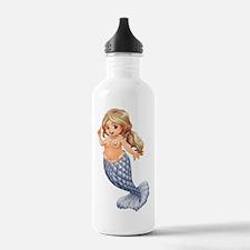 A smiling mermaid Water Bottle