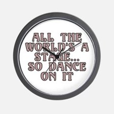 All the world's a stage - Wall Clock