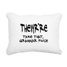 Grammar Police Rectangular Canvas Pillow