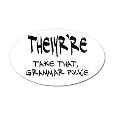 Grammar Police 35x21 Oval Wall Decal