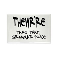Grammar Police Rectangle Magnet