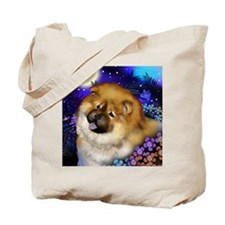 Chow Chow Dog Moon Garden Tote Bag