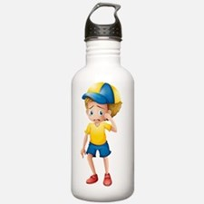A young boy sobbing Water Bottle