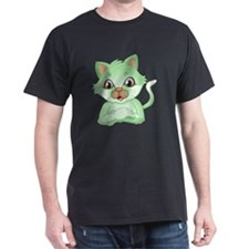An adorable green cat T-Shirt