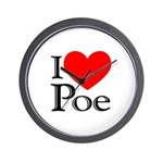 Love Poe Wall Clock
