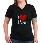 Love Poe Women's V-Neck Dark T-Shirt