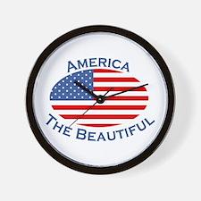 America The Beautiful! Wall Clock