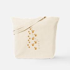 Brown Animal Tracks Tote Bag