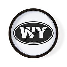 Wyoming WY Euro Oval Wall Clock