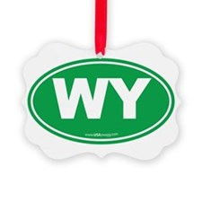 Wyoming WY Euro Oval Ornament