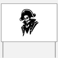 Pirate Captain Skull Yard Sign