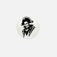 Pirate Captain Skull Mini Button (10 pack)