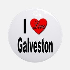 I Love Galveston Ornament (Round)