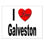 I Love Galveston Small Poster
