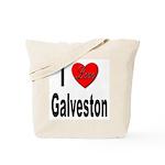 I Love Galveston Tote Bag