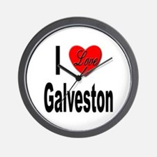 I Love Galveston Wall Clock