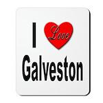 I Love Galveston Mousepad